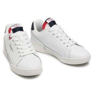 pepe jeans sneakersy lambert britt pbs30478 bialy