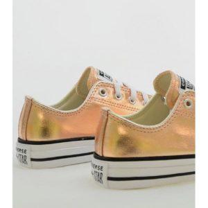 zapatilla converse metallic 670180c blush gold