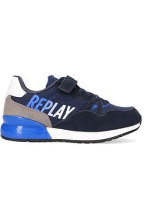replay blaue sneaker low blazen